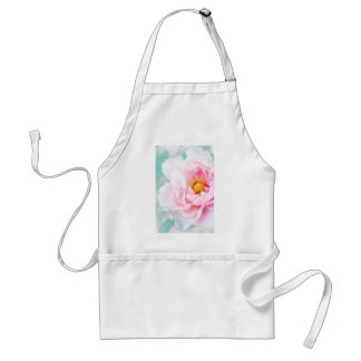High Key Pink Peony Flower Standard Apron