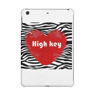 High Key Red Heart on Zebra Print iPad