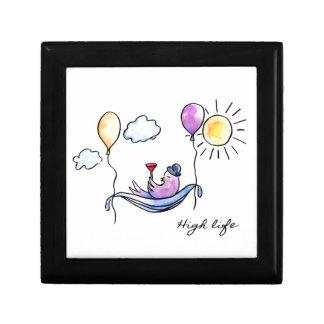 """High Life"" Comic bird in hammock in sky Gift Box"
