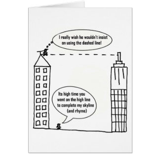 High line funny card