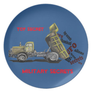 High military secret military truck gifts plates