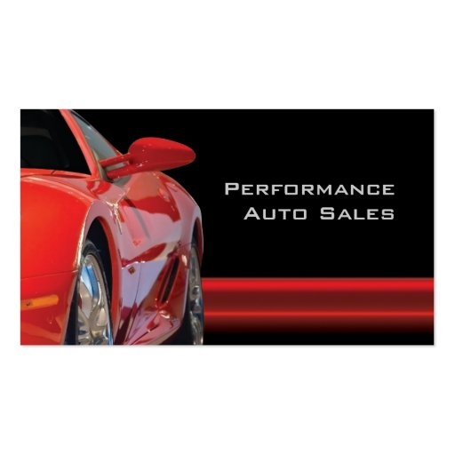 High Performance Auto Sales and Service Business Card Templates