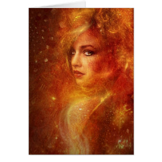 High Priestess Fire Greeting Card