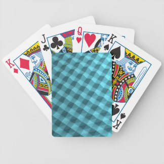 High quality blue bump looking back bicycle playing cards