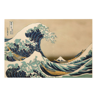 "High Quality Great Wave off Kanagawa (36"" x 24"") Wood Prints"