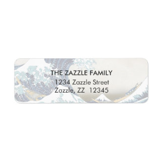 High Quality Great Wave off Kanagawa by Hokusai Return Address Label