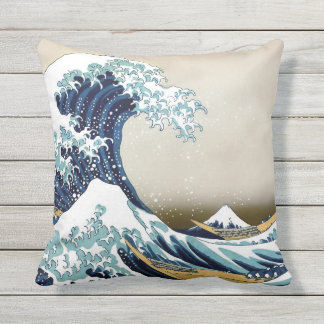 High Quality Great Wave off Kanagawa Outdoor Outdoor Cushion