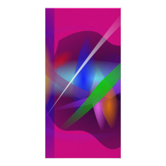 High Quality Translucent Abstract Painting Customized Photo Card