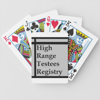 High Range Testees Registry (HRTR) Bicycle Playing Cards