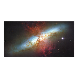 High Rate Star Formation Starburst Galaxy M82 Photo Card Template