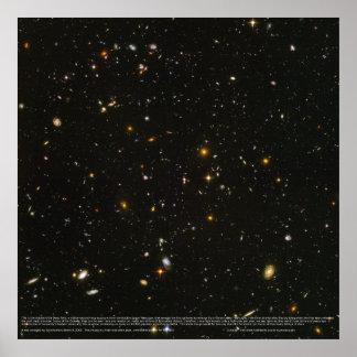 High-Res Hubble Ultra Deep Field Poster (Original)