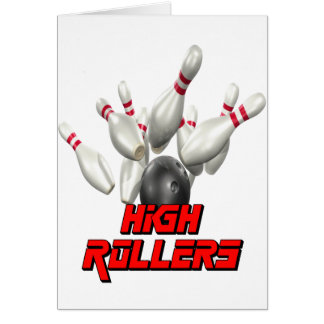 High Rollers Bowling Card