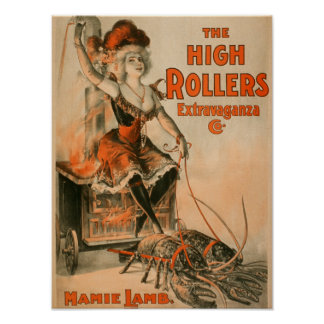 "High Rollers Extravaganza ""Mamie Lamb"" Play Poster"