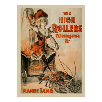 High Rollers Extravaganza Vintage Poster