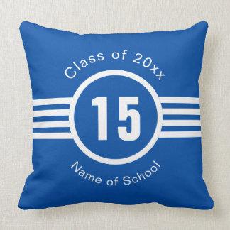 High School Athlete Varsity Number Graduation Throw Pillow