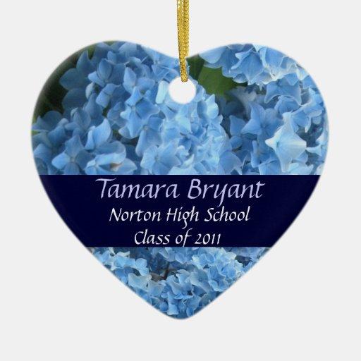 High School Class of 2011 Heart Keepsake Christmas Tree Ornaments