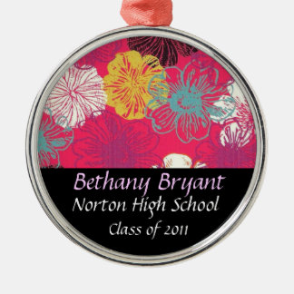 High School Class of 2011 Keepsake Silver-Colored Round Decoration