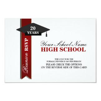 High School Class Reunion RSVP Card
