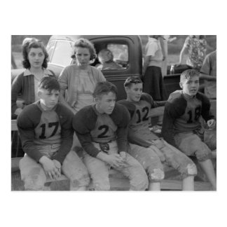 High School Football, 1941 Postcard