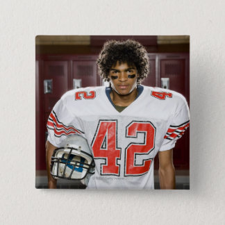 High School football player 15 Cm Square Badge