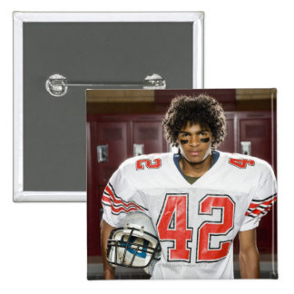 High School football player 15 Cm Square Badge