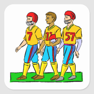 High School Football Players Stickers