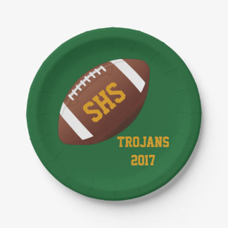 High School Football Team Homecoming Party Plates