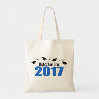 High School Grad 2017 Caps And Diplomas (Blue) Tote Bag