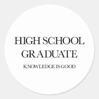 High School Graduate Round Sticker