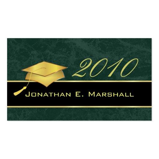 High School Graduation Name Cards - 2010 Business Card Templates