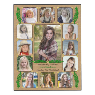 High School Graduation Photo Collage | Burlap Fern