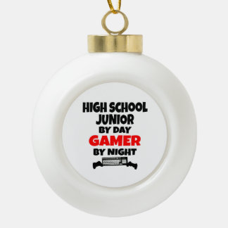 High School Junior by Day Gamer by Night Ceramic Ball Decoration