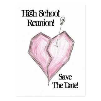 High School Reunion Postcard Invitations