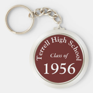 High School Reunion Souvenirs Customizable Basic Round Button Key Ring