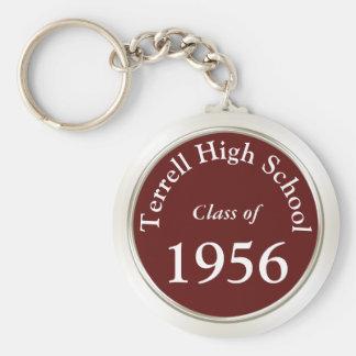 High School Reunion Souvenirs Customizable Key Ring