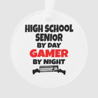 High School Senior by Day Gamer by Night Ornament