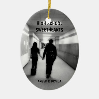 High School Sweethearts Ceramic Ornament