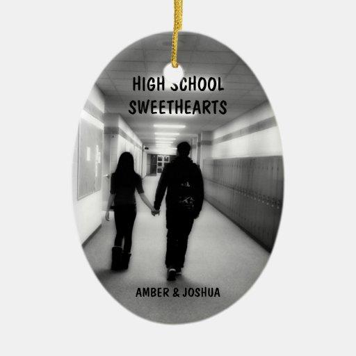 High School Sweethearts Christmas Ornament