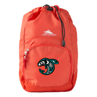 High Sierra Backpack, Red with Fish Backpack