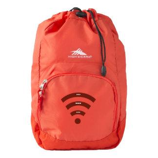 High Sierra hiking backpack sos morse code design