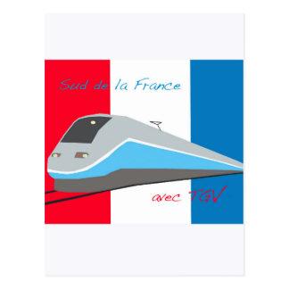 High Speed Rail Travel Postcard