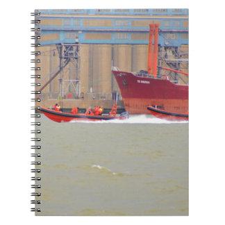 High Speed RIBs Spiral Notebooks