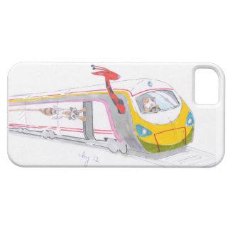 high speed train cartoon & guinea pig giraffe case for the iPhone 5
