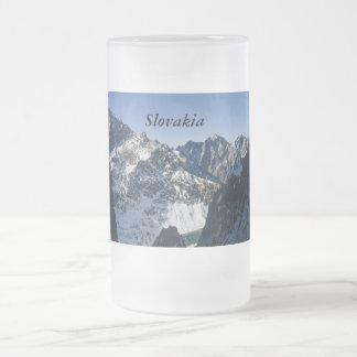 High Tatras, Slovakia Frosted Glass Beer Mug