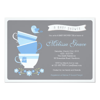 high tea baby shower / baby shower tea invitation