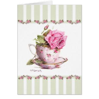 High Tea - Sage Card