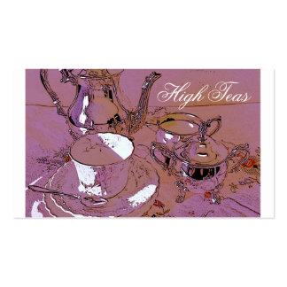 High teas business card template