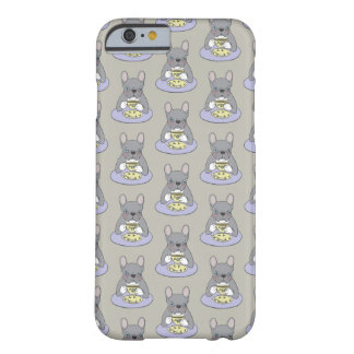 High Teas with Cute Blue Brindle Frenchie Barely There iPhone 6 Case