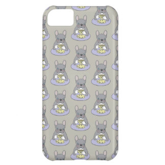 High Teas with Cute Blue Brindle Frenchie iPhone 5C Case
