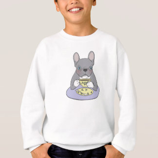 High Teas with Cute Blue Brindle Frenchie Sweatshirt